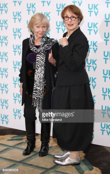 Una Stubbs and Sheila Reid attend the UKTV Live 2017 photocall at Claridges Hotel on September 13 2017 in London England Broadcaster announces it's...