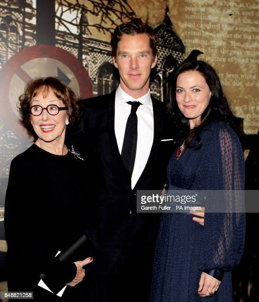 Una Stubbs Benedict Cumberbatch and Lara Pulver arrive for the Specsavers Crime Thriller Awards at the Grosvenor House Hotel London