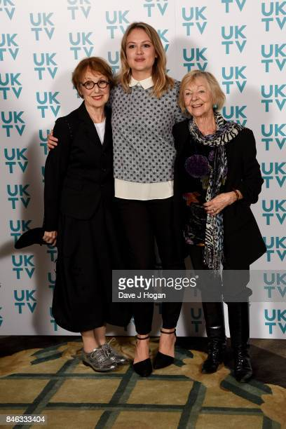 Una Stubbs Kimberley Nixon and Sheila Reid attend the UKTV Live 2017 photocall at Claridges Hotel on September 13 2017 in London England Broadcaster...