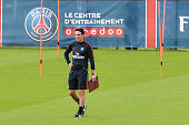 Unai Emery during Paris Saint Germain First Training Session on July 4 2016 in Camp des Loges SaintGermainenLaye France