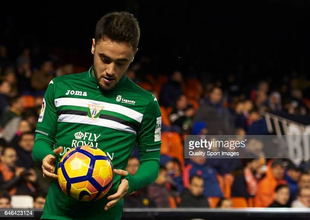 Unai Lopez of Leganes looks on during the La Liga match between Valencia CF and CD Leganes at Mestalla Stadium on February 28 2017 in Valencia Spain