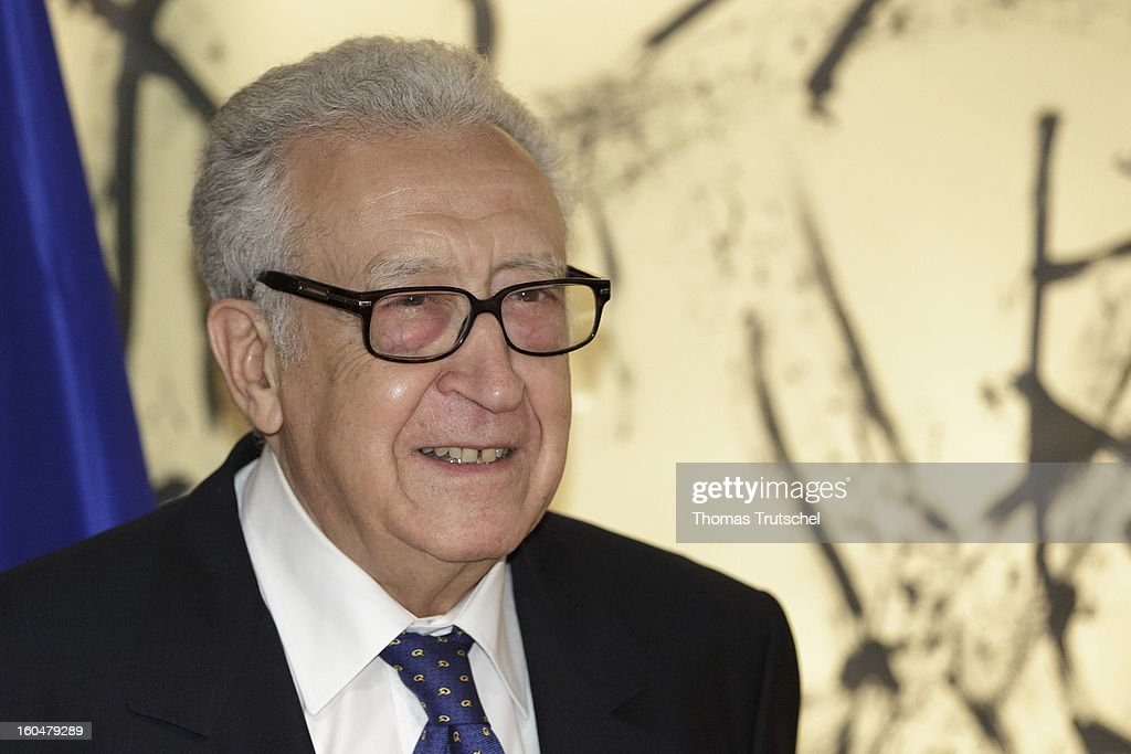 UN-Arab League peace envoy <a gi-track='captionPersonalityLinkClicked' href=/galleries/search?phrase=Lakhdar+Brahimi&family=editorial&specificpeople=226950 ng-click='$event.stopPropagation()'>Lakhdar Brahimi</a>, attends day 1 of the 49th Munich Security Conference at Hotel Bayerischer Hof on February 1, 2013 in Munich, Germany. The Munich Security Conference brings together senior figures from around the world to engage in an intensive debate on current and future security challenges and remains the most important independent forum for the exchange of views by international security policy decision-makers.