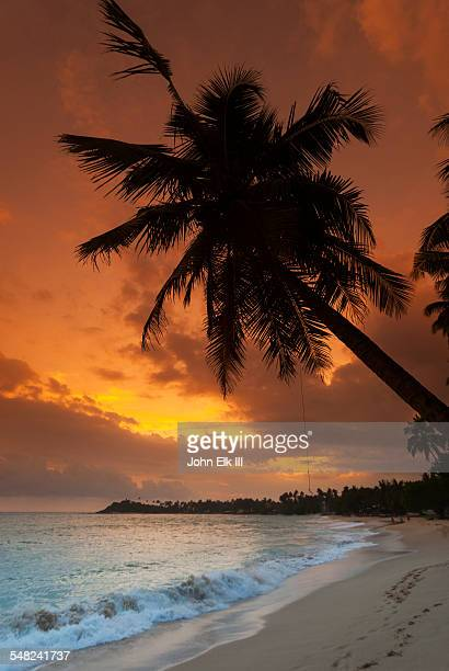 Unawatuna Beach at sunset