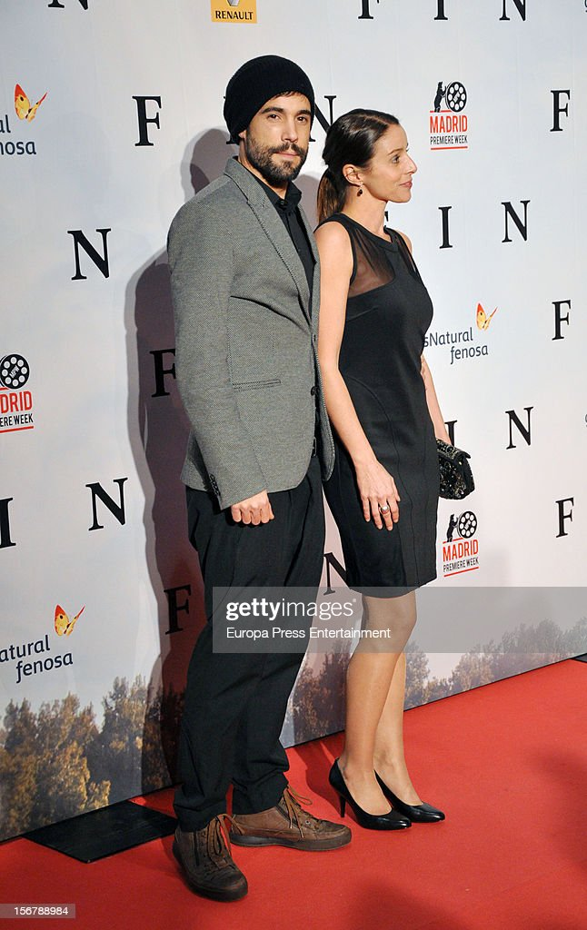 Unax Ugalde and Ingrid Rubio attend 'Fin' premiere on November 20, 2012 in Madrid, Spain.