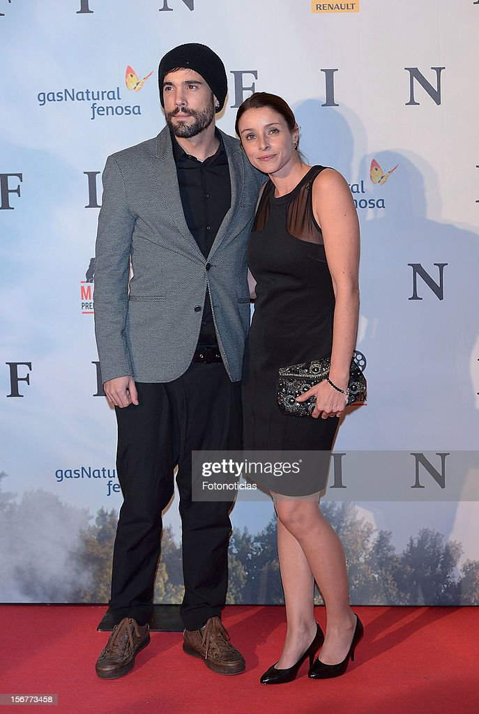 Unax Ugalde (L) and Ingrid Rubio attend the premiere of 'Fin' at Callao Cinema on November 20, 2012 in Madrid, Spain.