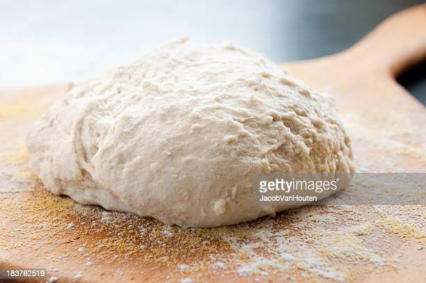 Unbaked Boule 生地にパドル