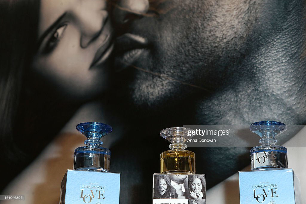'Unbreakable Love' by Khloe Kardashian during the fragrance launch with Khloe Kardashian-Odom and Lamar Odom at Sears on February 8, 2013 in Downey, California.