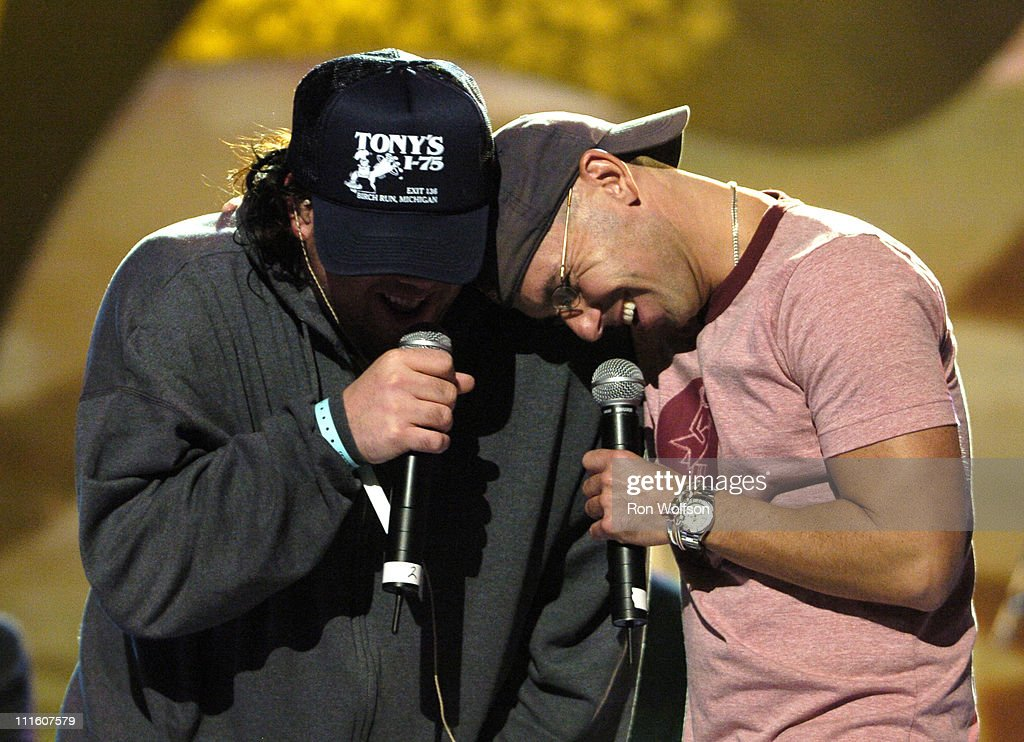 Uncle Kracker and Kenny Chesney during 32nd Annual American Music Awards Day Three Rehearsals at Shrine Auditorium in Los Angeles California United...