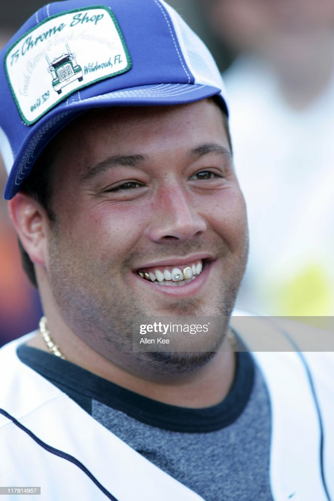 Uncle Kracker performs during the 2005 AllStar Legends/Celebrity Game at Comerica Park in Detroit Michigan on July 10 2005