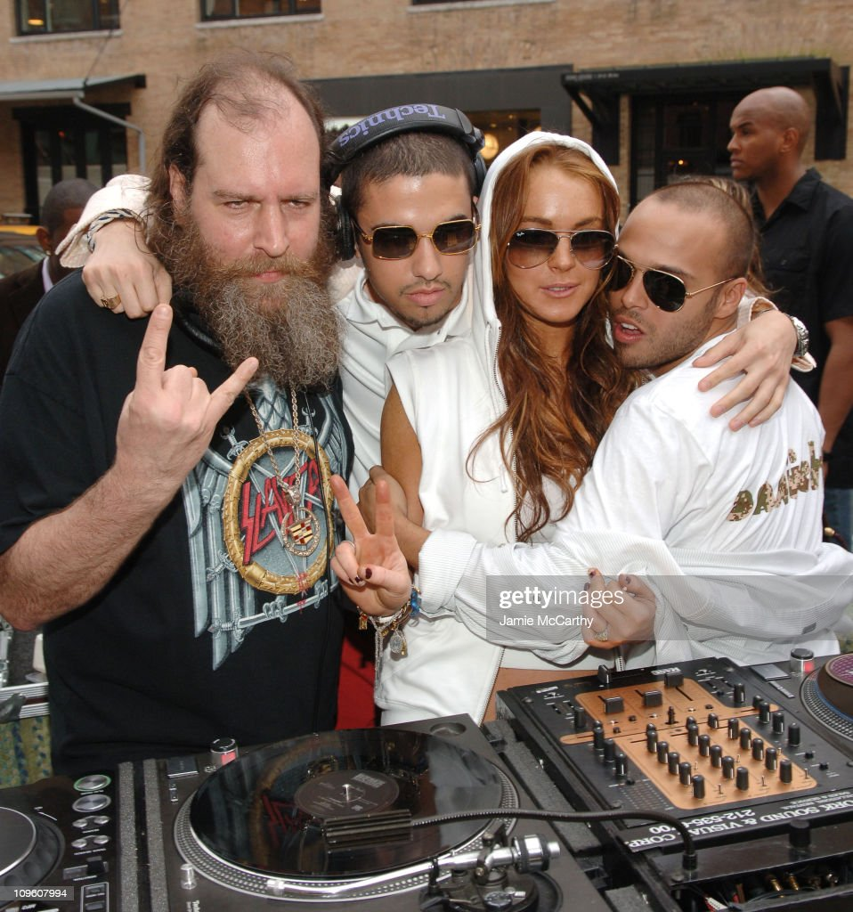 DJ Uncle Mike DJ Cassidy Lindsay Lohan and Richie Akiva