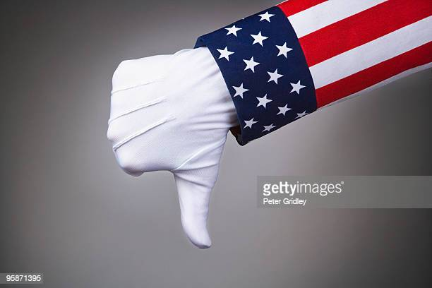 Uncle Sam gives a thumbs down gesture