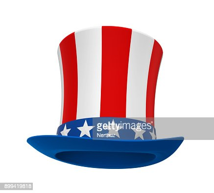 Uncle Sam Hat Isolated : Stock Photo