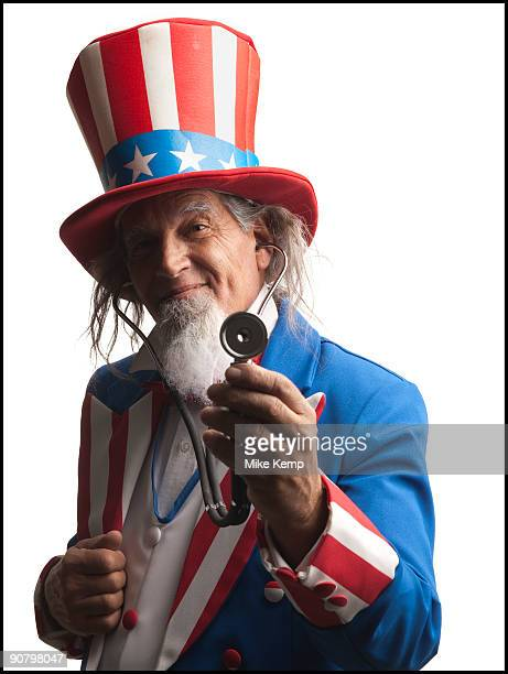 uncle sam wearing a stethoscope