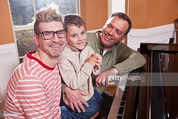 Unconventional family at the piano