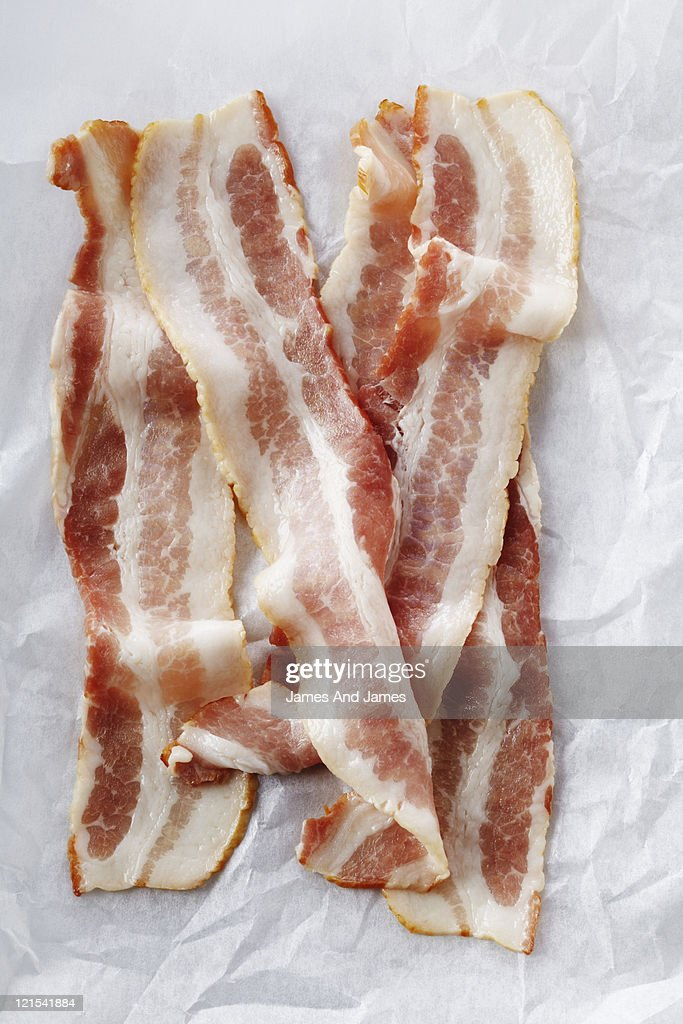 Uncooked Bacon : Stock Photo