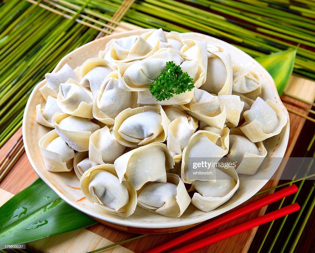 Uncooked Dumpling : Stock Photo