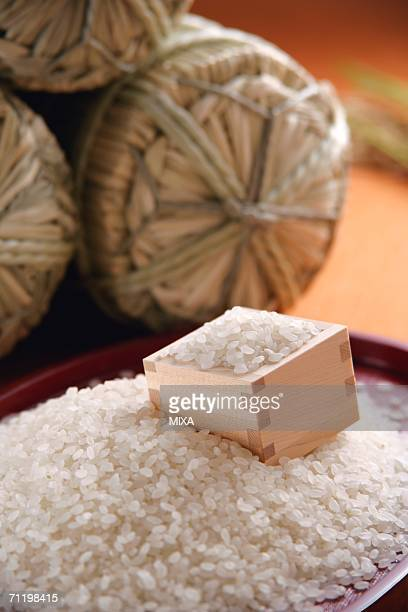 Uncooked rice, close-up
