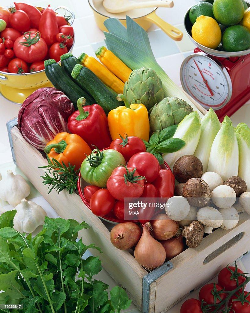 Uncooked vegetable : Stock Photo