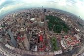 Undated aerial photograph of Mexico City Fotografia no fechada de una vista de general de la ciudad de Mexico AFP PHOTO/Omar TORRES