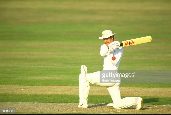 Clive Rice of Nottinghamshire in action during a match Mandatory Credit Allsport UK /Allsport