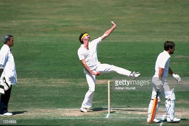 Dennis Lillee of Australia bowls during a match at Lord's in London Mandatory Credit Adrian Murrell/Allsport