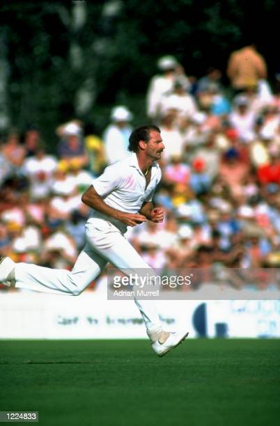 Dennis Lillee of Australia runs up to bowl during a match Mandatory Credit Adrian Murrell/Allsport