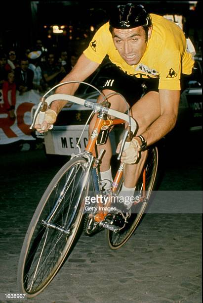 Eddie Merckx of Belgium in action during the Tour de France France Mandatory Credit Allsport UK /Allsport