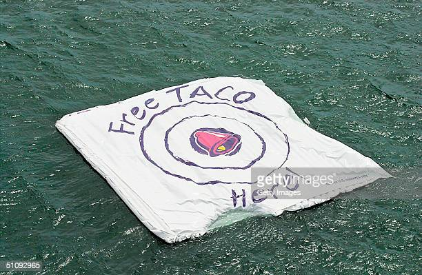 Undated File Photo Taco Bell Floats A Promotional 'Bullseye Target' In The Ocean The Taco Company Is Promising A Free Taco To All 281 Million...