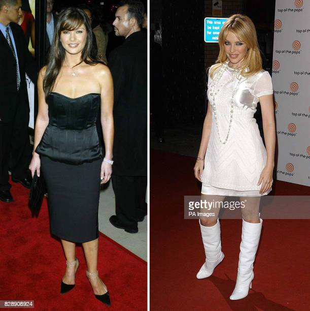 Undated file photos of actress Catherine ZetaJones and singer Kylie Minogue In a poll by Zest Magazine published Welsh film star ZetaJones was...