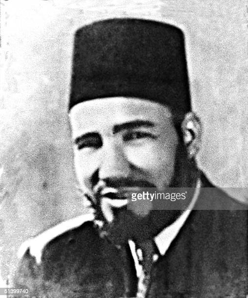 Undated file picture of Hassan alBanna founder of the Egyptian Muslim Brotherhood in the city of Ismailya in 1929 AlBanna was born in 1906 The...