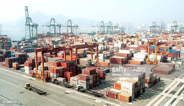 Undated File Picture Of Hong Kong's Container Terminal In Kwai Chung Hong Kong's Status As Gateway To China Is Likely To Erode Over The Next 15 Years...