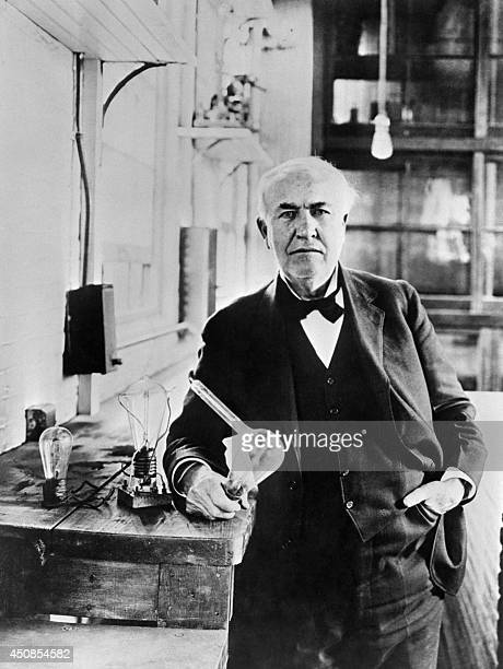 Undated file portrait of American inventor Thomas Alva Edison who created great innovations as the electric light bulb and the phonograph