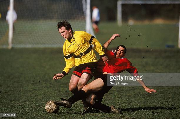 General action from a Sunday League Football match held in Manchester England Mandatory Credit AllsportUK /Allsport