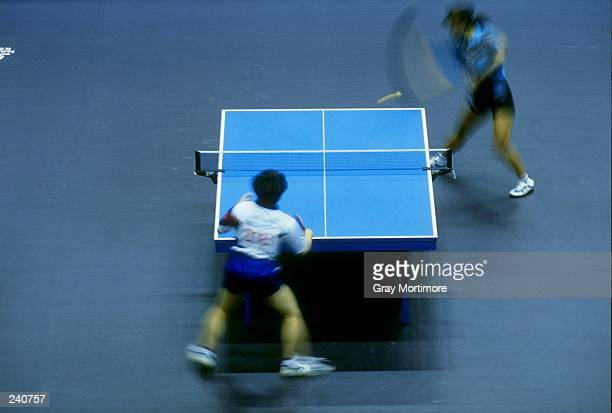 General view of a table tennis match Mandatory Credit Gray Mortimore /Allsport
