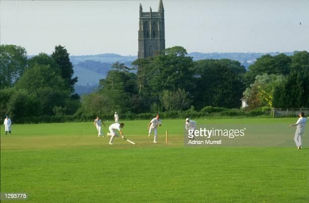 General view of a village cricket match in Blagdon Somerset England Mandatory Credit Adrian Murrell/Allsport