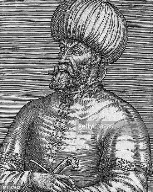 Undated illustration from a French book of Mohammed II the first sultan of the Ottoman Empire whose rule lasted from 1451 AD to 1481 with his death...