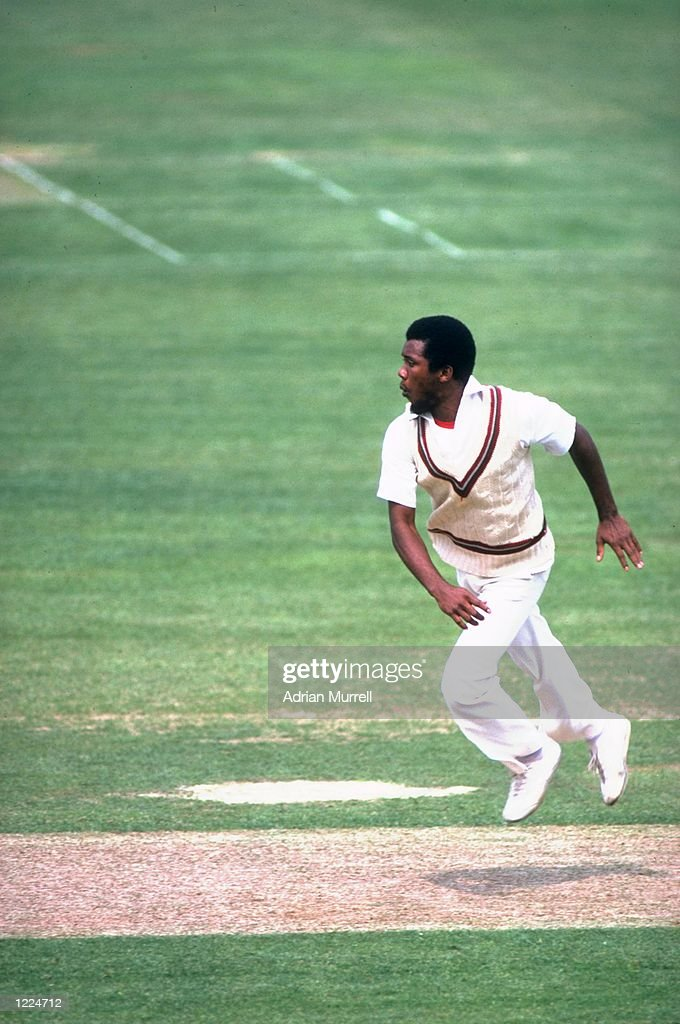 Malcolm Marshall of Hampshire and the West Indies in action during a match Mandatory Credit Adrian Murrell/Allsport