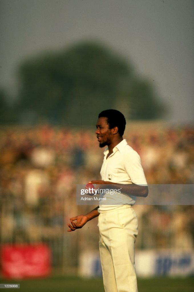 Malcolm Marshall of the West Indies prepares to bowl during a match Mandatory Credit Adrian Murrell/Allsport