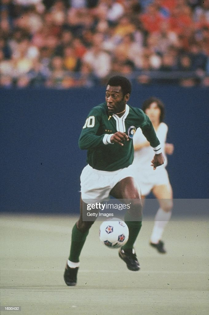 Pele of New York Cosmos in action during an American Soccer League match in the USA. \ Mandatory Credit: Allsport UK /Allsport