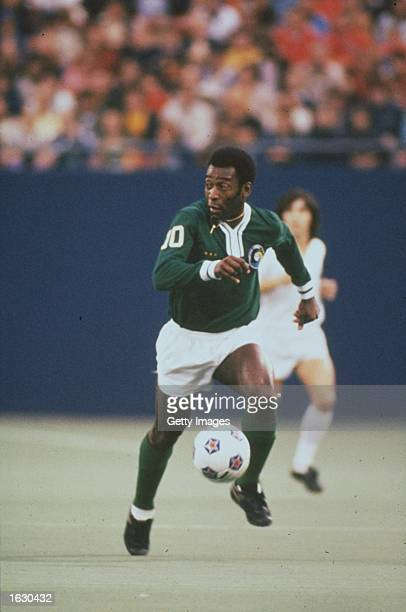Pele of New York Cosmos in action during an American Soccer League match in the USA Mandatory Credit Allsport UK /Allsport