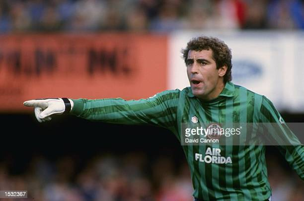 Peter Shilton of Southampton in action during a first division match at the dell in Southampton Mandatory Credit David Cannon/Allsport