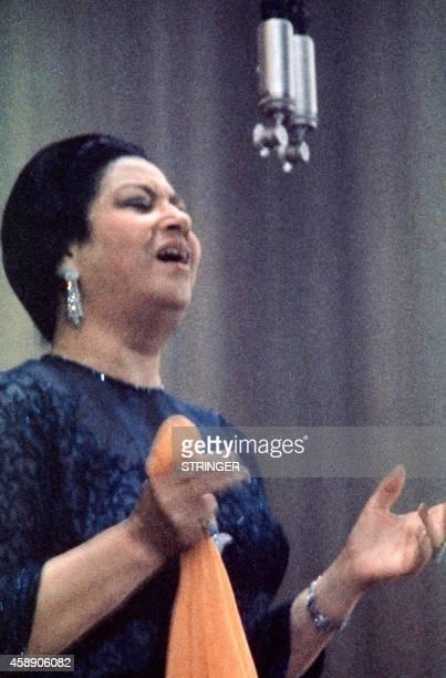Undated photo shows Egyptian singer Umm Kulthum AFP PHOTO