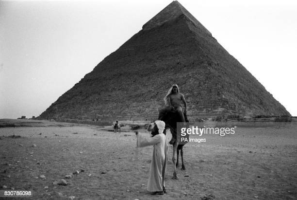Undated picture of a tourist on a camel at the pyramids at Giza on the outskirts of Cairo 27/12/01 The British Prime Minister and his wife are...