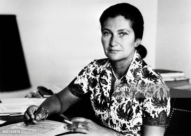 Undated picture of French Health Minister Simone Veil / AFP PHOTO /