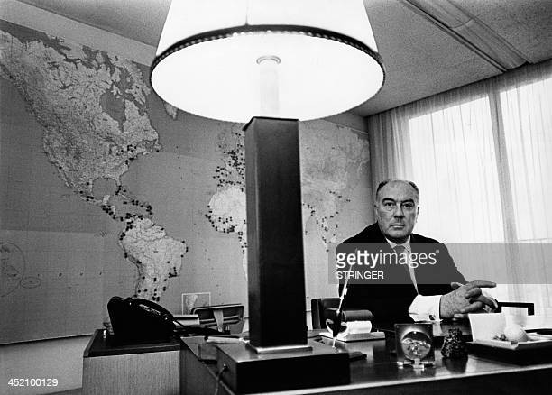Undated picture of Jean Marin Chief Executive of the Agence France Presse Jean Marin whose real name was Yves Morvan was the London Havas...