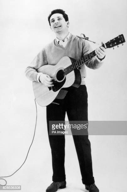 Undated picture of Lonnie Donegan playing guitar