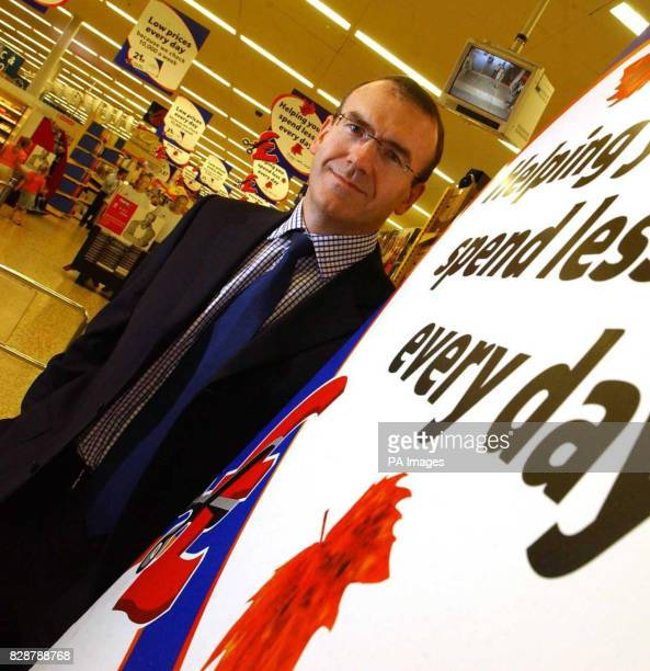 Undated picture of Sir Terry Leahy Chief executive of the supermarket giant Tesco which said that it had made an 'outstanding' start to its financial...