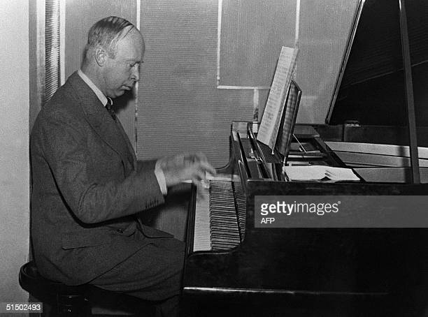 Undated picture of Soviet composer Sergey Sergeyevitch Prokofiev Born in 1891 in Sontsovka in Ukraine he began to compose at the age of five studied...