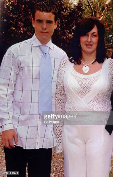Undated picture released through Lincolnshire Police of Luke Walmsley and his mother Jayne Luke was stabbed through the heart in front of a crowd of...