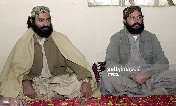 Undated picture shows Pakistani Brahamdah Bugti the grand son of late tribal chief Nawab Akbar Bugti and Balach Marri in Kholo Pakistani security...